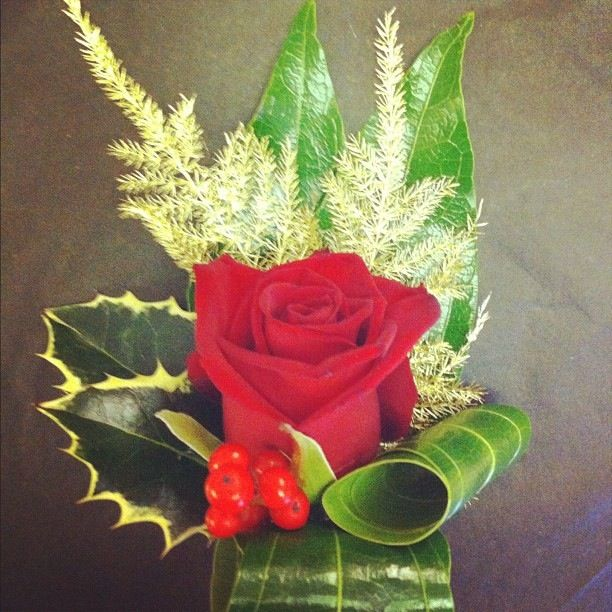 Christmas themed buttonhole