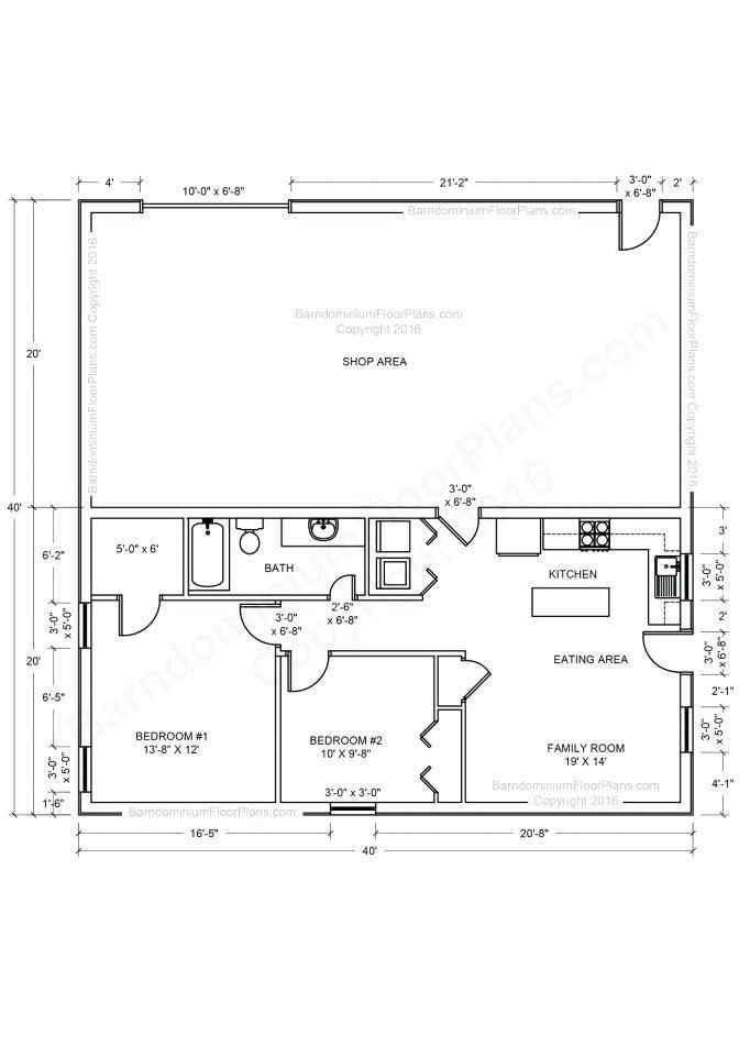 Cool Pole Barn With Living Quarters Floor Plans 8 Perception Barndominium Floor Plans Pole Barn House Plans Garage House Plans