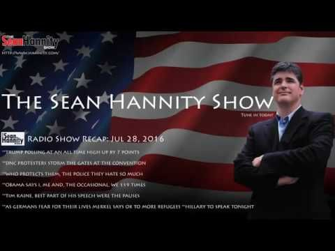 The Sean Hannity Radio Show (7.28.2016) Featuring Mike Pence - YouTube