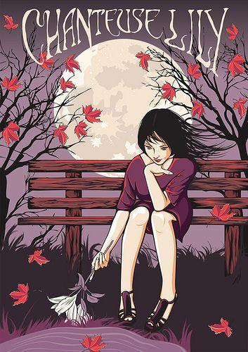 """Chanteuse Lily"" ... a beautiful illustration by Perth (Australia) artist Anne Cobai. www.chanteuselily.com"