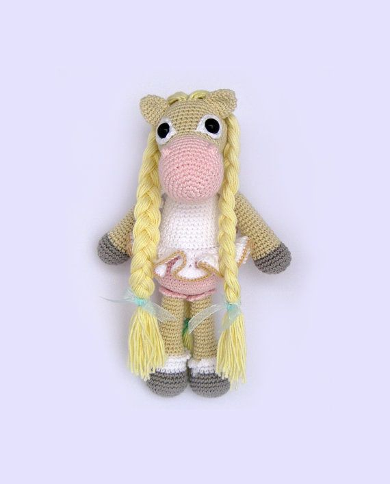 Horse Amigurumi Toy PATTERN by mojeamigurumi on Etsy