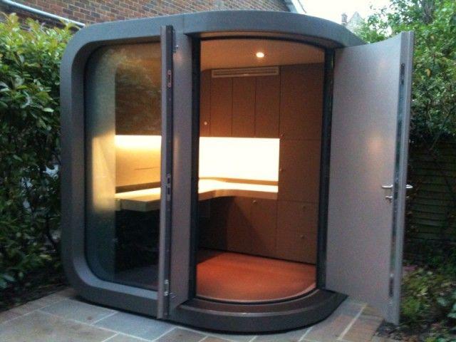 16 best small garden rooms offices images on pinterest for Garden office pod