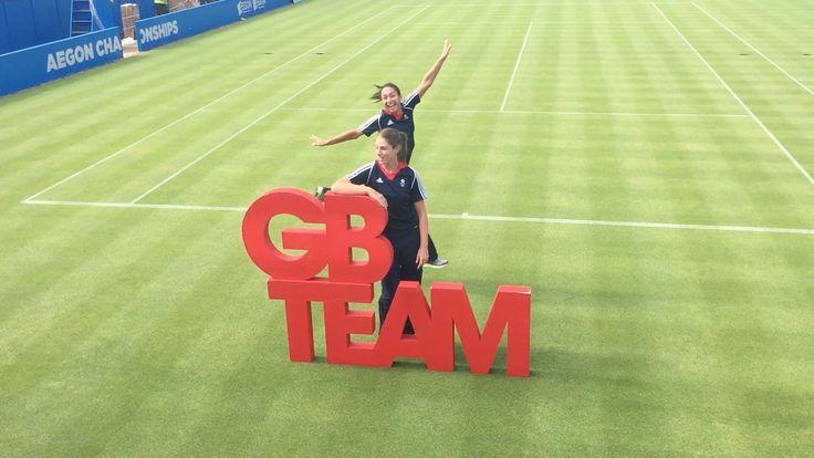 Johanna holds GB Team while Heather has fun!