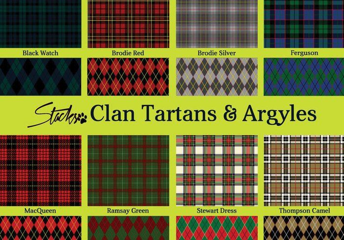 Scottish Clan Tartans, Argyle, and Plaid Patterns