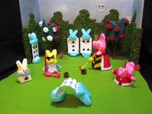 """""""Alice in Peepland"""" Peeps Diorama - peeps - peeps dioramas  - peep parody #peeps:"""