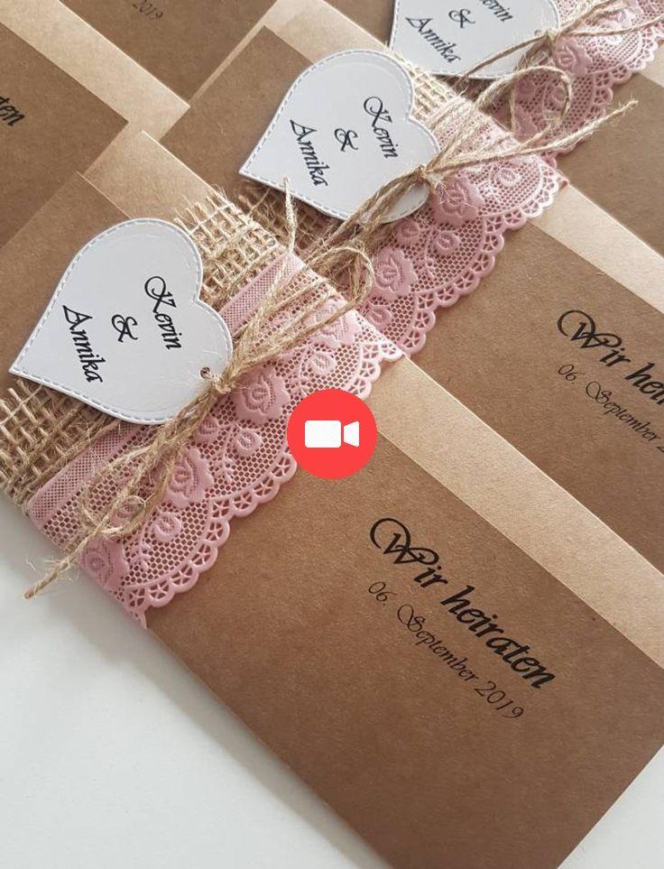 10x Vintage Invitation Pour Les Invitations De Mariage De Papier Kraft De La Dentelle Vi Invitation Mariage Invitation Mariage Vintage Idee Invitation Mariage