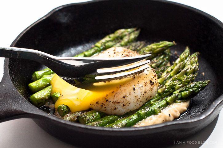 Miso Asparagus -mmmmmmmmmmmm miso - i didn't do it with the egg, but i ...