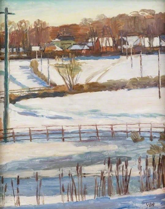 Snow at Tilton by Vanessa Bell 1941