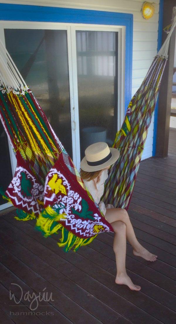 Wayuu Hammock is the quintessential  Hammock, a meaningful and luxurious piece, artisanal chic style. #wayuuhammocks #luxuryhammocks