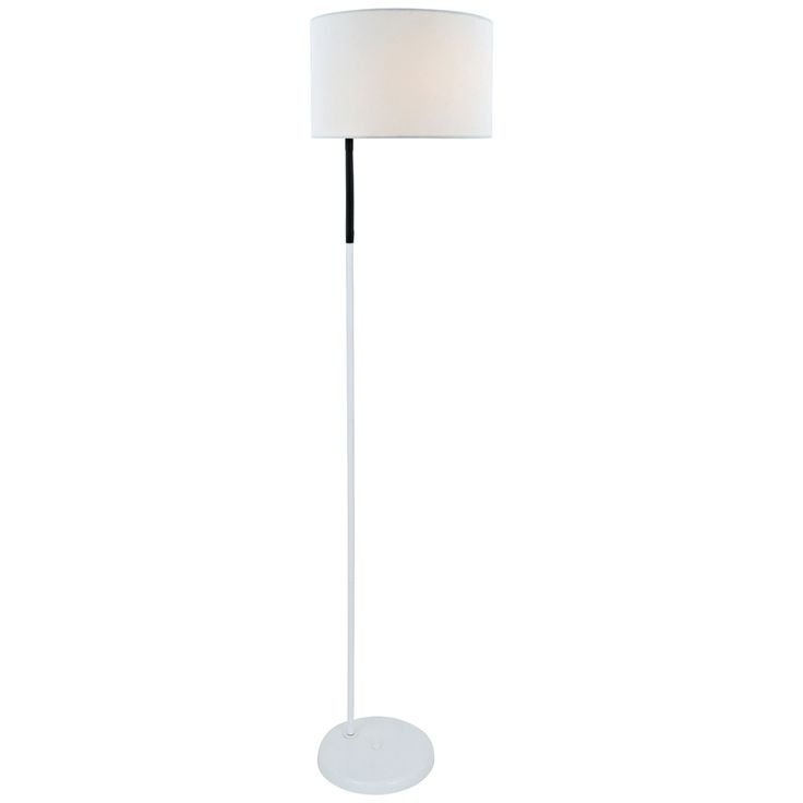 Lite Source Gillian White Metal Floor Lamp - Style # 8T911