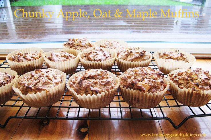 Looking for a refined sugar free, healthy muffin for the lunch boxes or snack? Try my yummy Chunky Apple, Oat & Maple Muffins - Thermomix & regular recipes