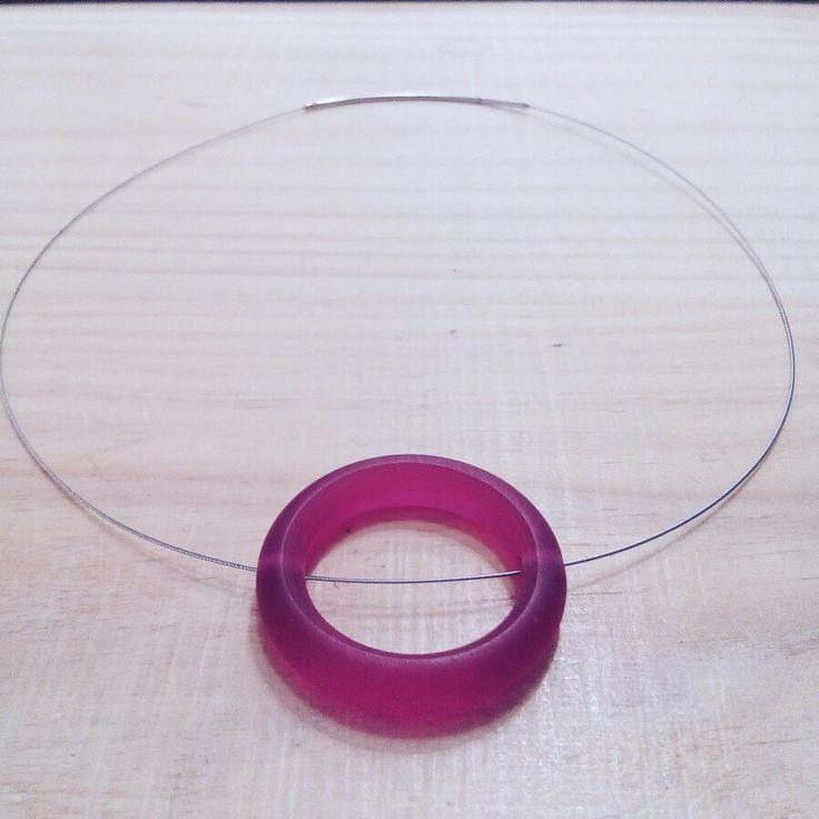 Resin & steel wire Tim & Kat jewelry