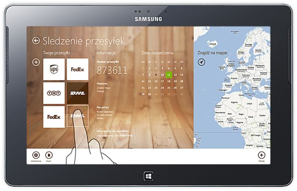 My package, Windows 8 UI mobile application by Michal Galubinski, via Behance