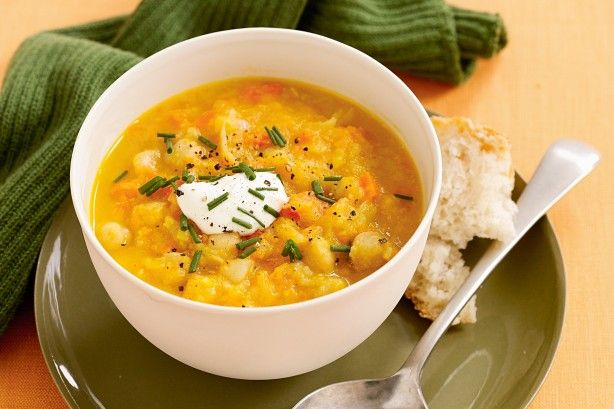 This tasty chickpea soup freezes well so keep some in the freezer for those nights when you don't fell like cooking.