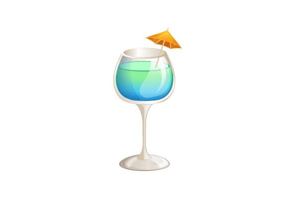 Blue Curacao Cocktail Vector Image  #cocktail #vector #drink #party #bluecuracao http://www.vectorvice.com/cocktails-vector-pack