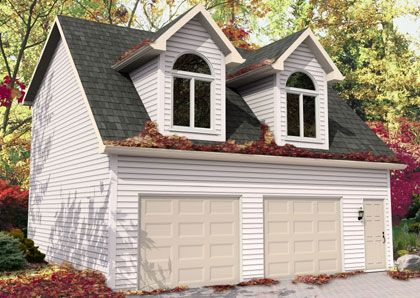 Loft garage home sweet home pinterest for Garage packages with loft