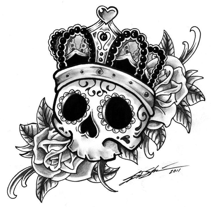 sugar skull coloring pages princess - photo#30