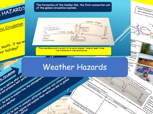 Weather Hazards: Global Atmospheric Circulation Model:New AQA 9-1 GCSE Complete Lessons.