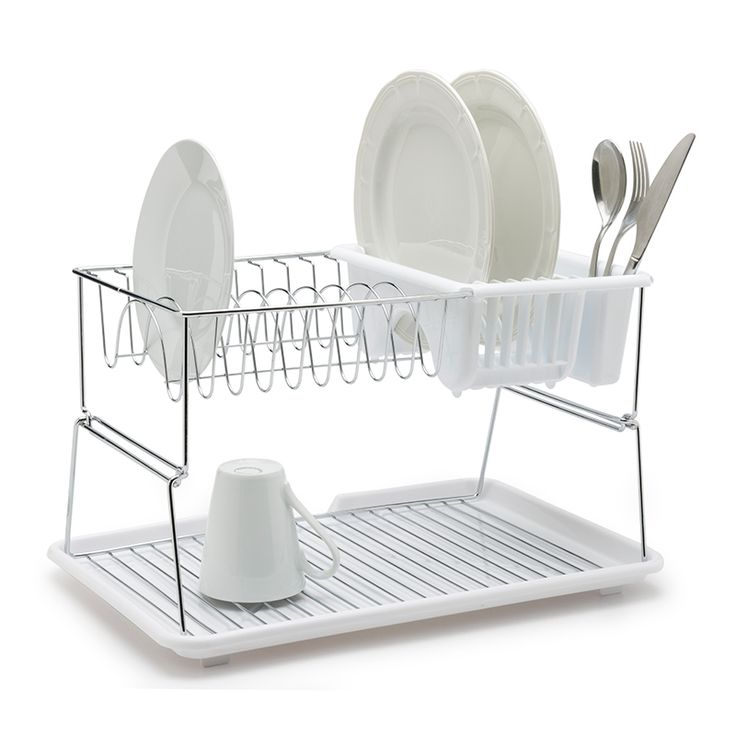 The 2-Tier Dish Rack is ideal for small kitchens. The dish rack
