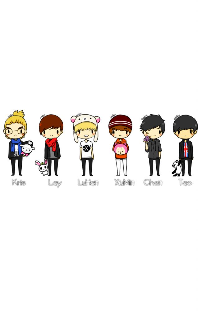 Latest Kpop Wallpaper Cute Exo Chibi Hd Wallpaper Hd Quality Also