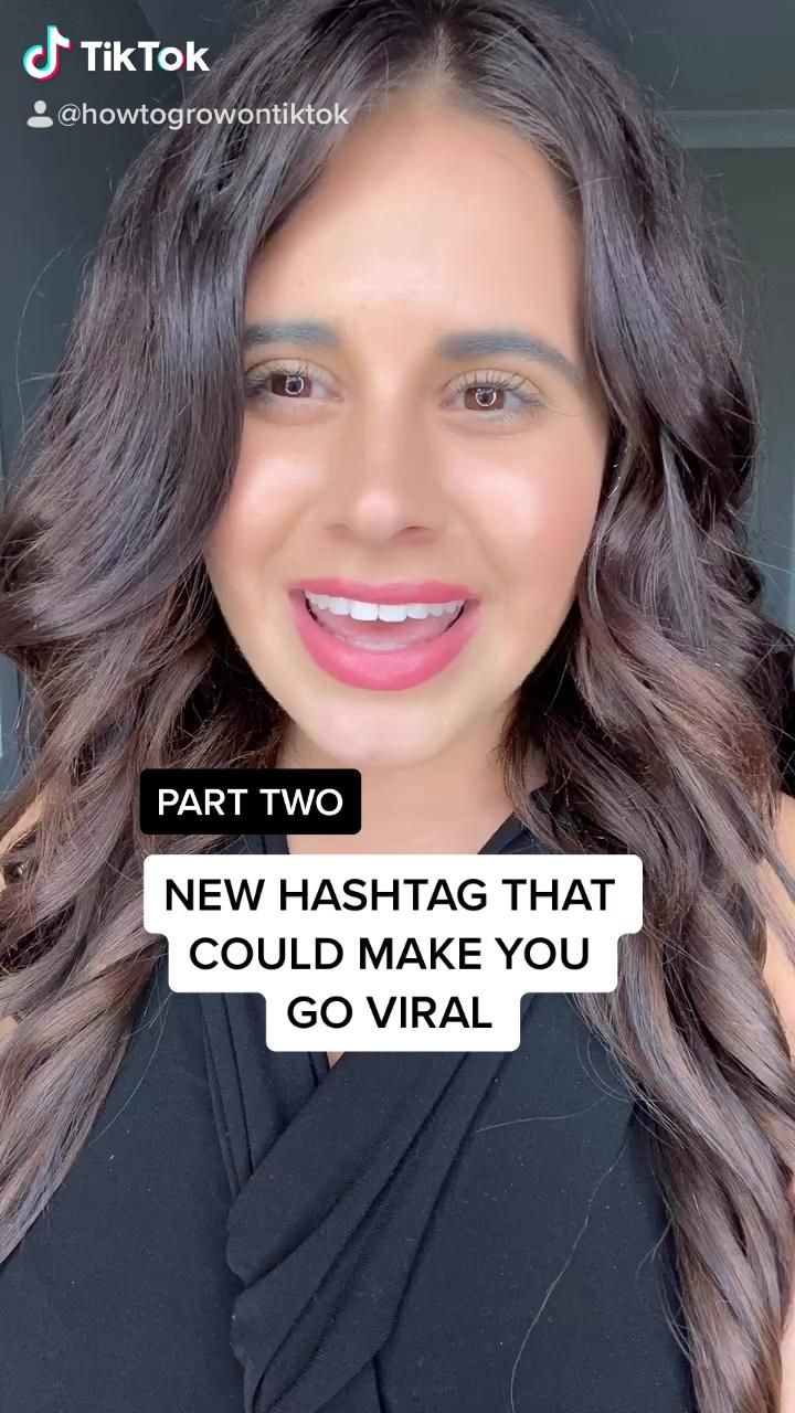 New Trending Hashtag That Could Make You Go Viral On Tiktok Video Social Media Page Design Social Media Instagram Trending Hashtags