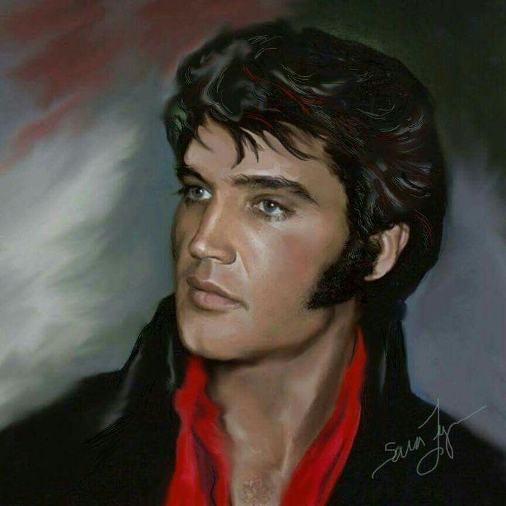 ( 2015 † IN MEMORY OF ) - † ♪♫♪♪ Elvis Aaron Presley ...  |1977 Elvis Painting