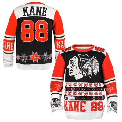 Chicago Blackhawks Patrick Kane Ugly Sweater. Honestly, if this was the only gift I received this Christmas...I'd be okay with that.
