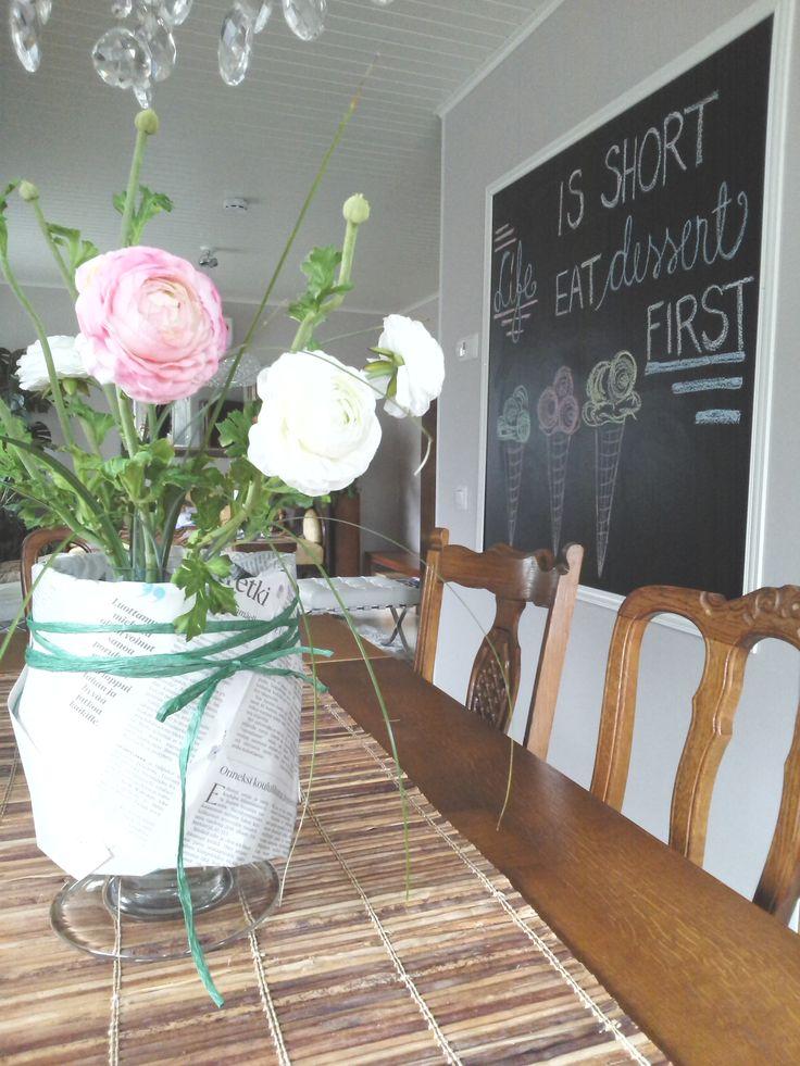 Table decorating ideas and blackboard art