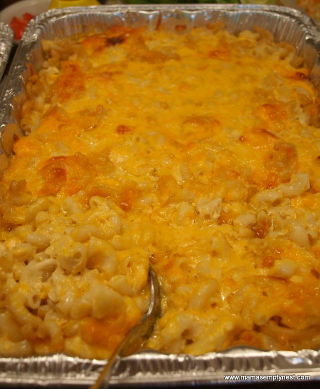 Sweetie Pie's Mac & Cheese baked | JM- as stated in the recipe this makes a ton! Make sure your guest are hungry. Will make again, but dividing into more that two aluminum pans for the freezer.