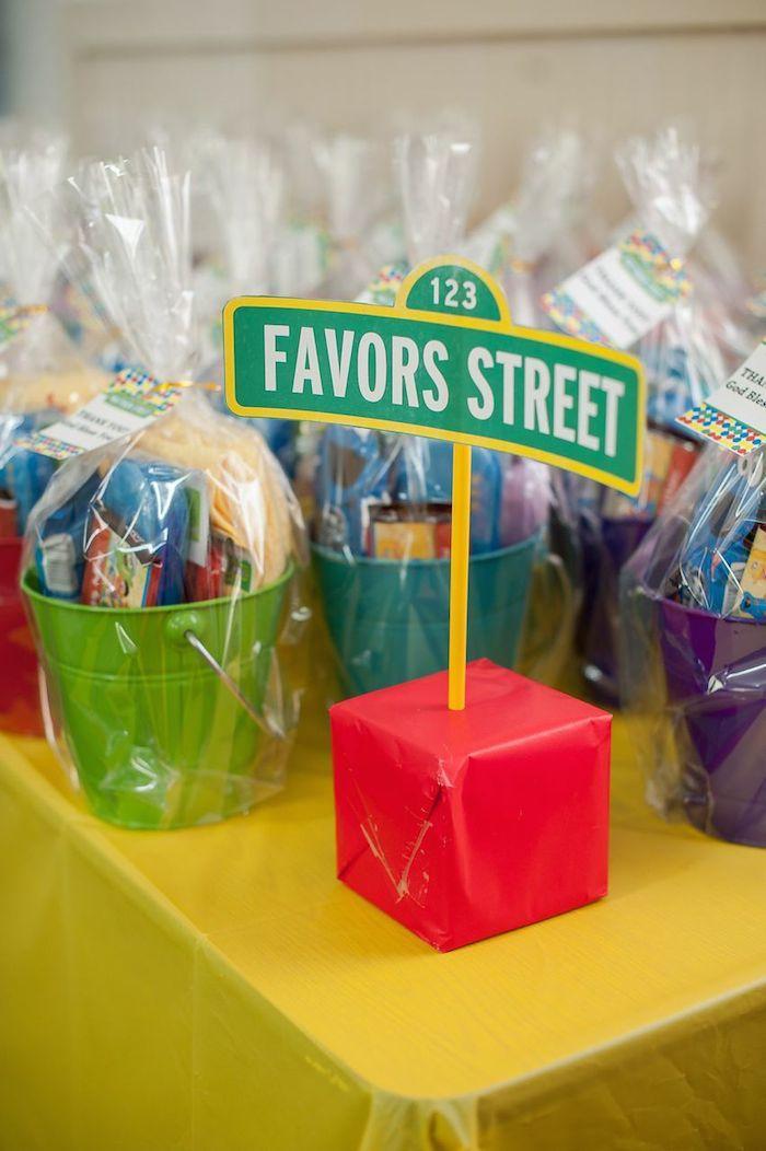 Sesame Street themed 1st birthday party via Kara's Party Ideas KarasPartyIdeas.com Invitation, cake, food, supplies, recipes, and MORE! #sesamestreet #sesamestreetparty (9)