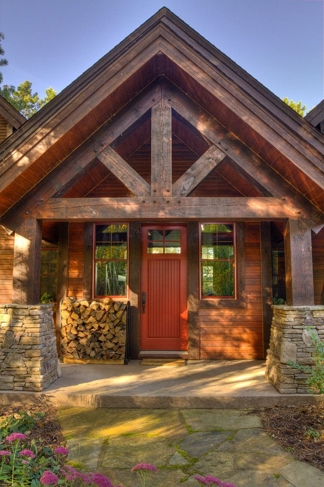 46 Amazing Wooden And Stone Front Porch Ideas In 2020 House Front Front Porch Stone House With Porch
