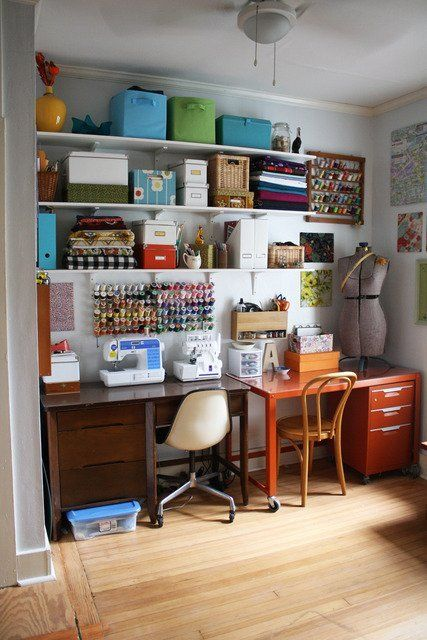 Inspiring Workrooms & Craft Spaces ~ #sewingroom