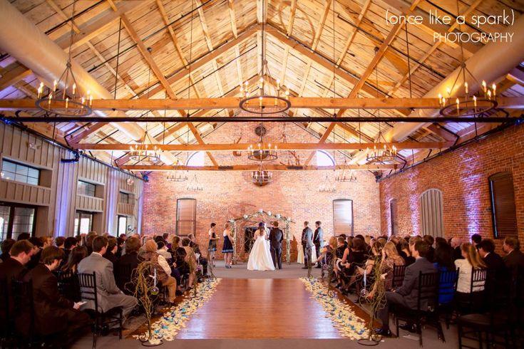 wedding ceremony indoor wedding lancaster wedding locations gorgeous venue brick walls chandeliers romantic wedding ceremony sarah bria