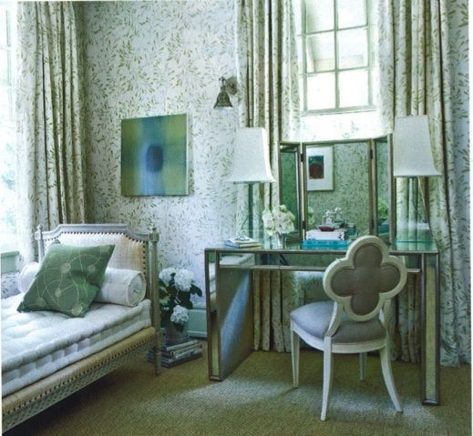 Designer Mary Evelyn McKee - love the table and chair (from Hickory Chair)