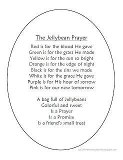 My Homeschool Tale: The Jellybean Prayer for Easter