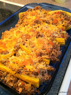 Stuffed Yellow Squash (for SCD sub out breadcrumbs)