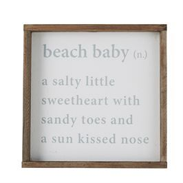 Beach Baby Definition Plaque | Living | Mud Pie