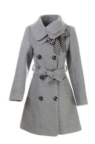 LANHUACAO Women Wool Blends Coat Slim Trench Winter Coat Long Jacket Outwear