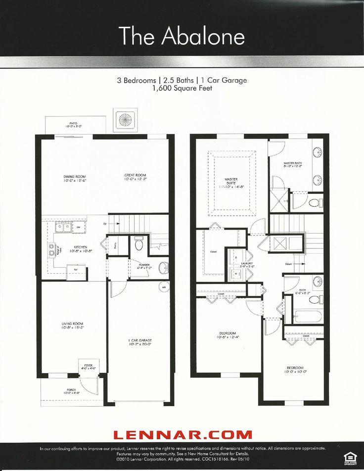 Nona Terrace Abalone Floor Plan In Orlando FL