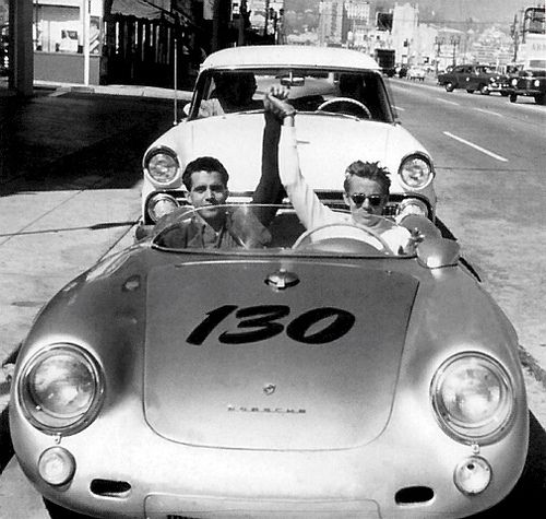 James in his treasured Porche just before his death.