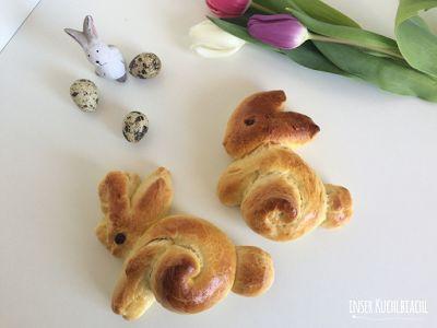 inser Kuchlbiachl: Süße kleine Osterhasis aus Hefeteig - ganz einfach...