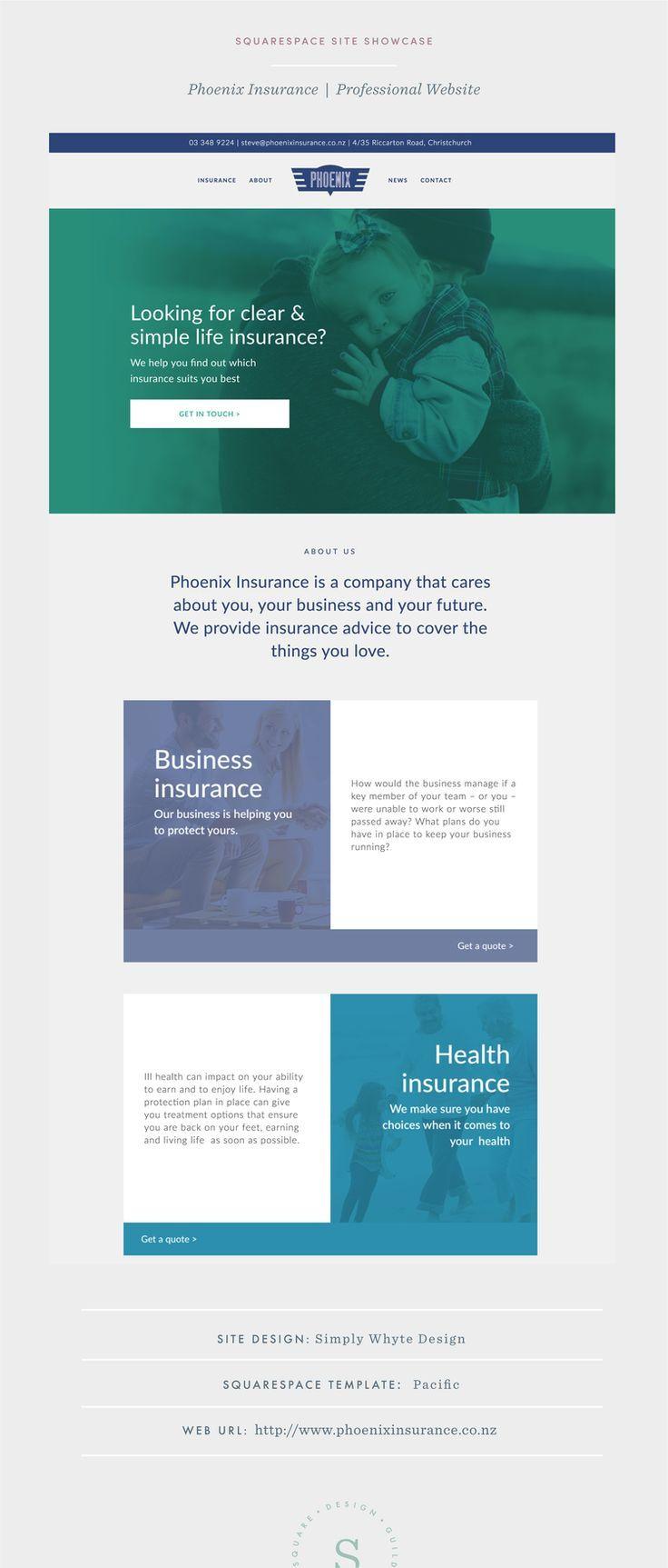 Phoenix Insurance Squarespace Web Design Health Insurance
