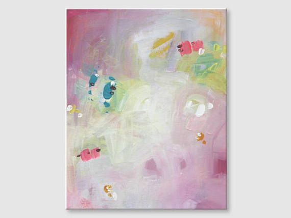 Abstract painting by Svetlansa #painting #abstract #svetlansa #homedecor #pink  #green #beige #artwork #wallart  #abstractart