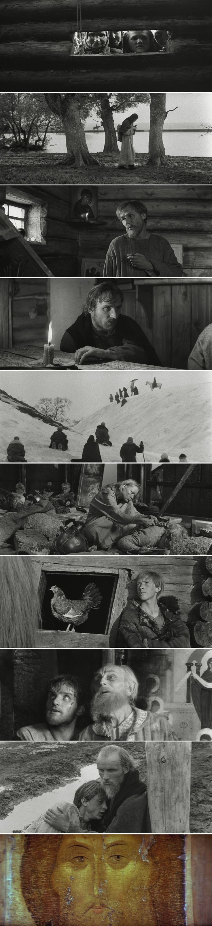 Andrei Rublev (1966) Directed by Andrei Tarkovsky. Cinematography by Vadim Yusov.