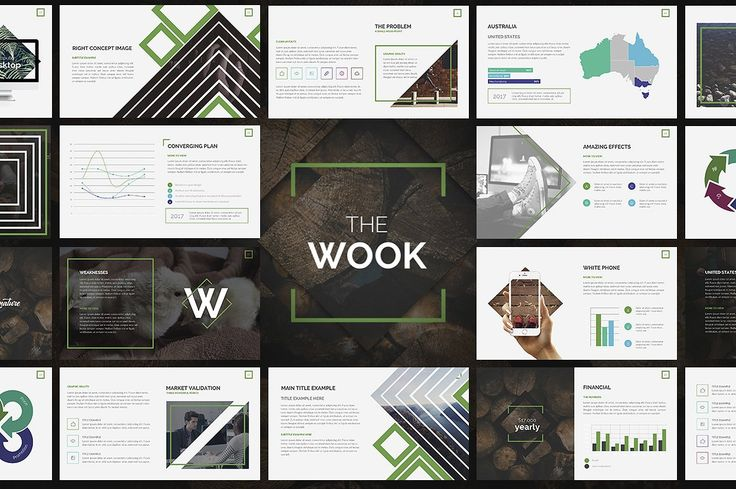 Wook   Powerpoint Template by Zacomic Studios on @creativemarket