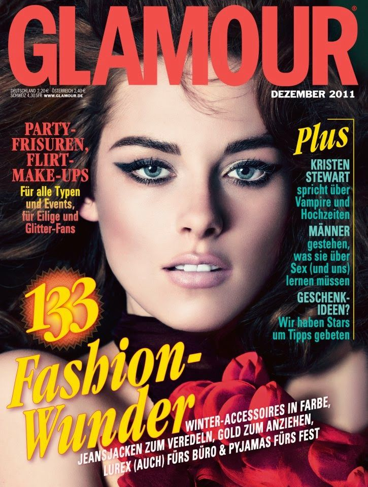 Kristen Stewart and Robert Pattinson Latest News: Kristen Stewart Glamour cover 2011