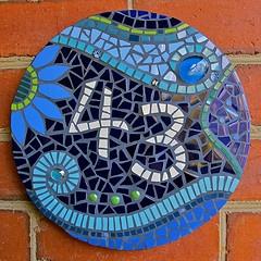 Mosaics house number