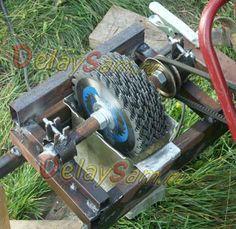 Самодельный садовый измельчитель отходов на основе дисковых пил и мотоблока. Измельчение компоста