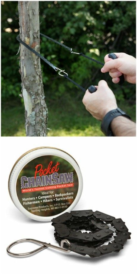 Pocket chainsaw:  The chainsaw was made of high-strength and heat-treated steel