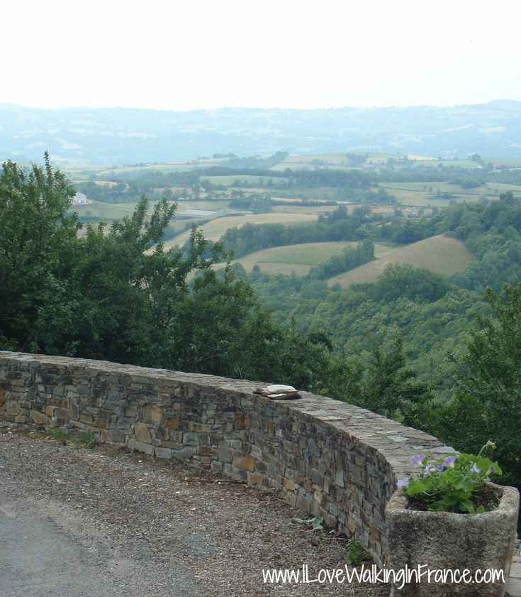 Views over the countryside from Noailhac on the GR 65 Chemin de Saint-Jacques, France